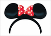 Minnie Mouse Red Bow Clipart Image