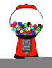Free Clipart Bubble Gum Machine Image