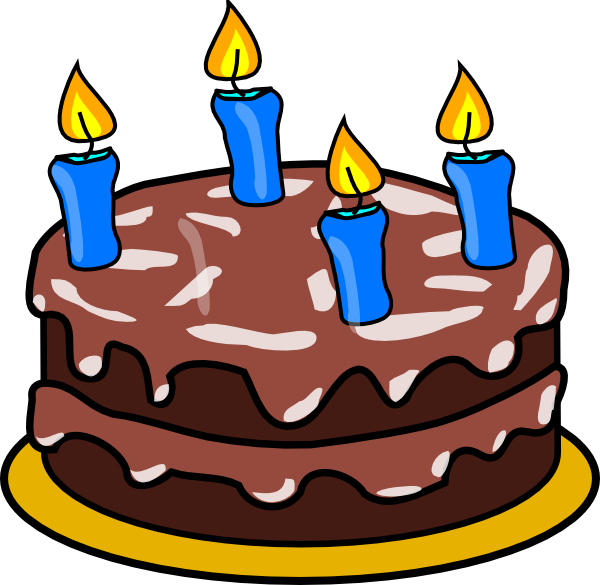 Clip Art Of Birthday Cake With Candles : Birthday Cake Four Candles Clip Art at Clker.com - vector ...