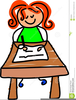 Clipart Children Writing Image