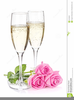 Free Clipart Of Champagne Glasses Image
