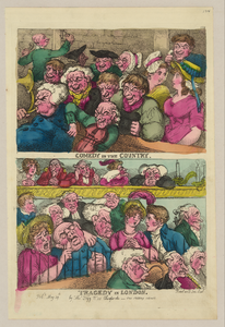 Comedy In The Country. Tragedy In London  / Rowlandson, Scul. Image