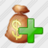 Icon Money Bag Add Image