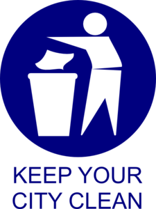 Keep Ur City Clean Clip Art