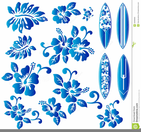 Blue Hibiscus Flower Clipart Free Images At Clkercom Vector