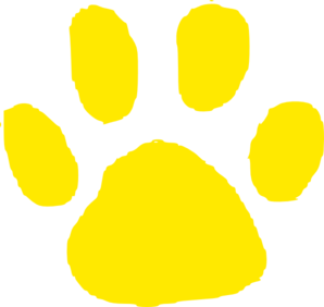 Jaguar Paw Print In Gold Clip Art