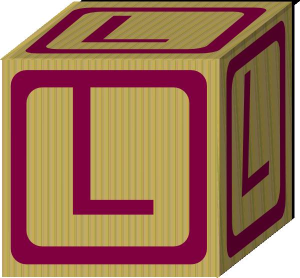 Letter Alphabet Block L Clip Art at Clker.com - vector ...