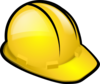 Yellow Construction Hardhat  Clip Art