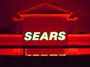 Sears At Night South Face From Roof Of Parkade Richmond Image