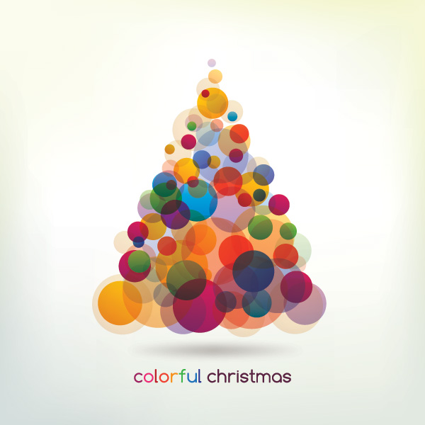 Colorful christmas tree free images at clker