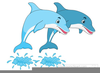 Dolphins Jumping Clipart Image