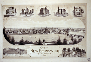 City Of New Brunswick, New Jersey  / Packard & Butler Lith. Philada. Image