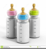 Baby Bottles Clipart Image