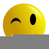 Free Clipart Winking Smiley Face Image