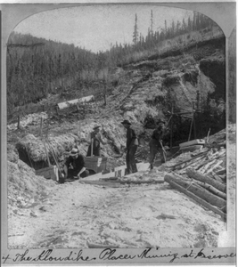 [four Men Placer Mining For Gold At Discovery Claim In The Klondike] Image