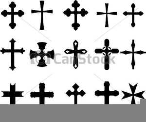 Free Christian Line Art Clipart Image