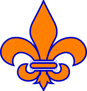 Orange And Blue Fleur De Lis Clip Art At Clker Com Vector Clip Art