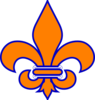 Orange And Blue Fleur De Lis Clip Art