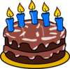 Birthday Cake - Candles Clip Art