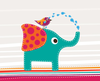 Cute Elephant And Bird Image