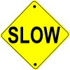 Slow Road Sign Clip Art