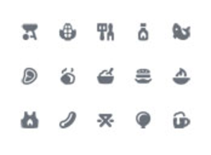 Pika 008 Barbecue Icons Xs Image