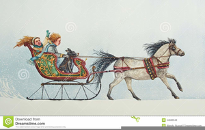 Christmas Horse And Carriage Clipart Free Images At Clker Com