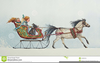 Christmas Horse And Carriage Clipart Image