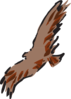 Brown Bird Flying Art Clip Art