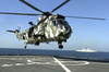 British Royal Navy Sea King Aboard Usns Pecos Image