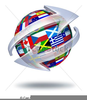 Flags Of The World Clipart Image