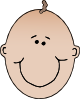 Smiling Boyface Colour Clip Art