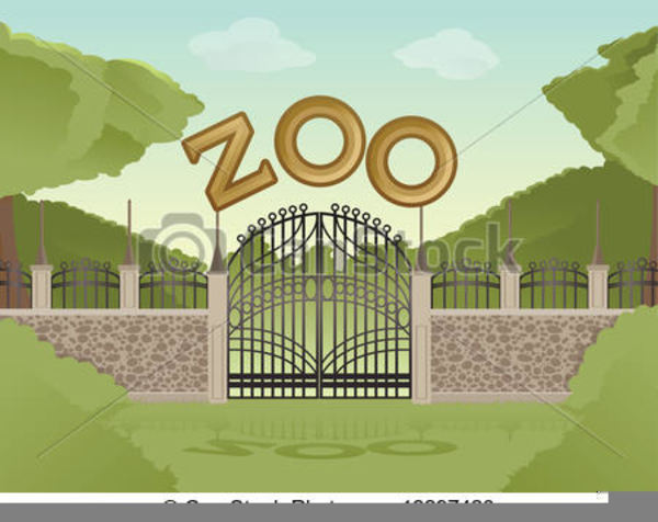 Line Drawing Zoo : Zoo background clipart free images at clker vector