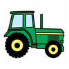 Free Green Tractor Clipart Image