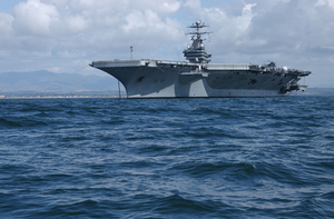Uss John C. Stennis (cvn 74) Anchored Off The Coast Of San Diego, Calif. Image