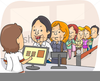 Animated Standing In Line Clipart Image
