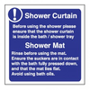 Shower Curtain Shower Mat Self Adhesive Sign Pack Of X Mm Image