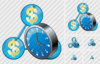 Country Business Clock Image