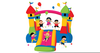 Bouncy Houses Clipart Image