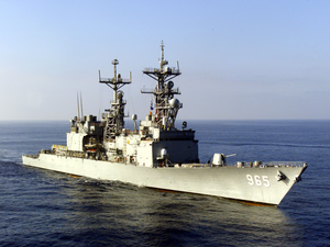 The Spruance-class Destroyer Uss Kinkaid (dd 965) Image