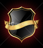 Stock Illustration Black And Gold Shield Image