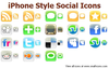 Iphone Style Social Icons Image