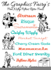 Fifties Fonts Clipart Image
