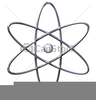 Free Clipart Illustration Of An Atom Image