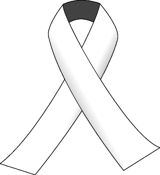 White Ribbon 3 Clip Art at Clker.com - vector clip art ...