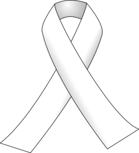 White Ribbon 3 Clip Art