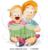 Big Brother Little Sister Clipart Image