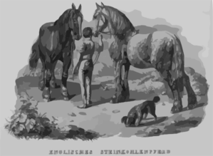 English Steinkohle Horse Clip Art