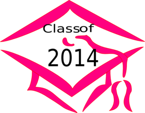 class of 2014 graduation cap pink clip art at clker com vector rh clker com