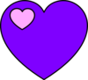 Lavender And Pink Heart Clip Art